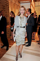 ALLEGRA HICKS at a party to celebrate the opening of the Louis Vuitton Bond Street Maison, New Bond Street, London on 25th May 2010.