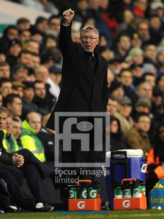 Picture by Andrew Timms/Focus Images Ltd. 07917 236526.04/03/12.Manager of Manchester United Sir Alex Ferguson during the Barclay Premier League match against Tottenham at White Hart Lane stadium, London.