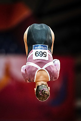 October 28, 2018 - Doha, Quatar - Sofia Bjoernholdt of  Denmark   during  Vault qualification at the Aspire Dome in Doha, Qatar, Artistic FIG Gymnastics World Championships on 28 of October 2018. (Credit Image: © Ulrik Pedersen/NurPhoto via ZUMA Press)