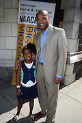 Londell McMillian w/daughter at The Pre-Reception for The 100th NAACP Annual Conference hosted by Governor David Patterson w/special performance by Ryan Leslie held at the Great Hall at City College of New York in New York City on July 12, 2009