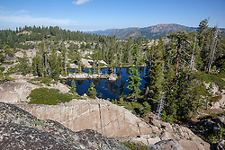 """""""Pond Near Loch Leven Lakes 1"""" - Photograph of a scenic view and a pond near Loch Leven Lakes in the Tahoe National Forest."""