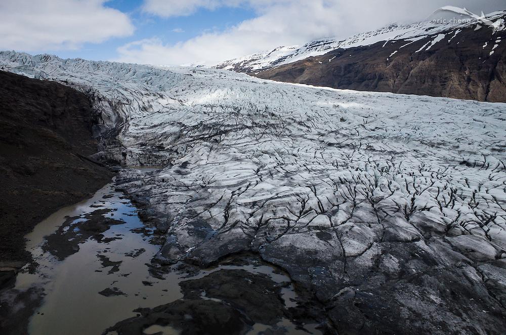 Flaajokull Glacier (Fláajökull), Iceland