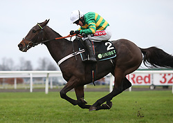Buveur DÕAir and Barry Geraghty in action during The Unibet Christmas Hurdle Race run during day one of 32Red Winter Festival at Kempton Park Racecourse.