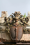 Coat of Arms. Photographed in Isola Maggiore, Lake Trasimeno, Umbria, Italy