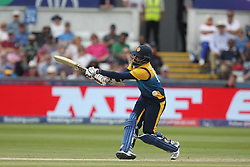 July 1, 2019 - Chester Le Street, County Durham, United Kingdom - Lahiru Thirimanne of Sri Lanka batting during the ICC Cricket World Cup 2019 match between Sri Lanka and West Indies at Emirates Riverside, Chester le Street on Monday 1st July 2019. (Credit Image: © Mi News/NurPhoto via ZUMA Press)