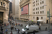 Wall street and stock exchange October 2008