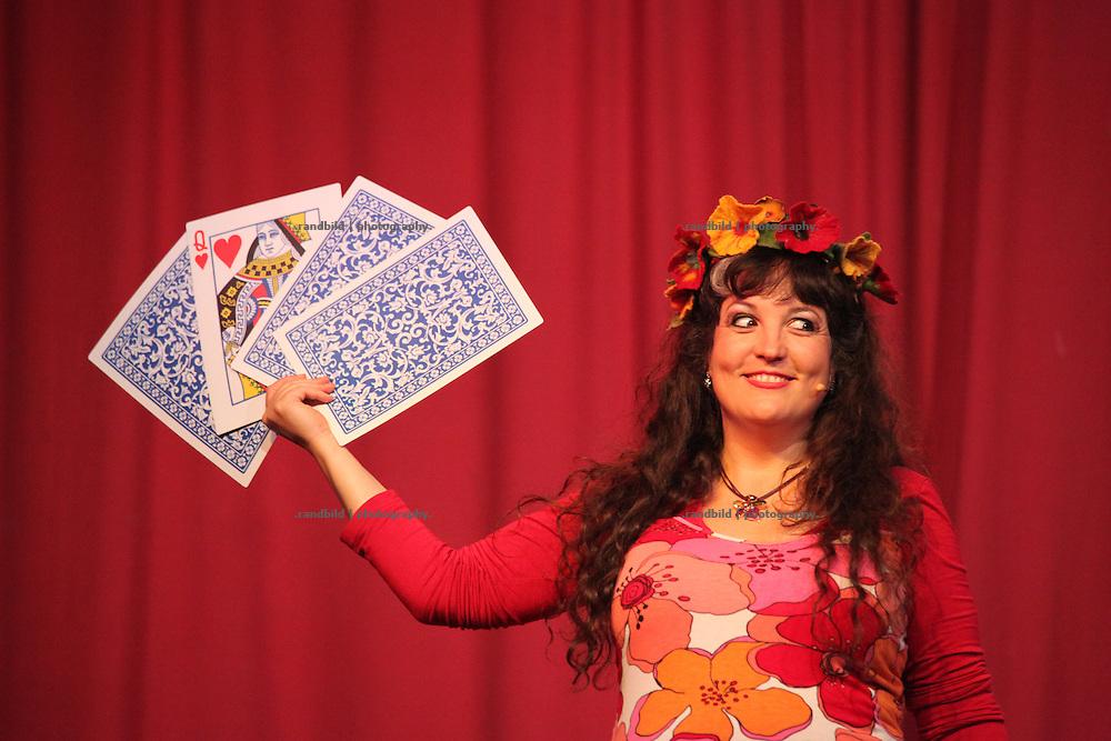 Lachparade 2009 in Salderatzen (Lüchow-Dannenberg). Comedian Astrid Gloria