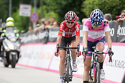 Claudia Lichtenberg (GER) of Lotto Soudal Cycling Team approaches the finish line of the Giro Rosa 2016 - Stage 2. A 111.1 km road race from Tarcento to Montenars, Italy on July 3rd 2016.