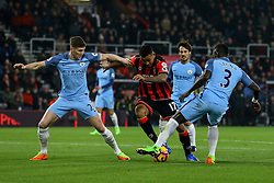 Joshua King of Bournemouth on the attack, trying to get past Bacary Sagna of Manchester City - Mandatory by-line: Jason Brown/JMP - 13/02/2017 - FOOTBALL - Vitality Stadium - Bournemouth, England - Bournemouth v Manchester City - Premier League