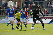 Mansfield Town Forward Mani Dieseruvwe on the attack during the Sky Bet League 2 match between Carlisle United and Mansfield Town at Brunton Park, Carlisle, England on 9 April 2016. Photo by Craig McAllister.