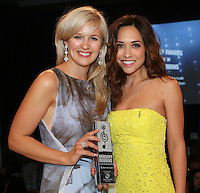 (L-R) Alison Balsom, Myleene Klass. The Silver Clef Lunch 2013 in aid of  Nordoff Robbins held at the London Hilton, Park Lane, London.<br /> Friday, June 28, 2013 (Photo/John Marshall JME)
