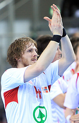 Alexander Buchmann of Norway during 21st Men's World Handball Championship preliminary Group D match between Norway and Egypt, on January 19, 2009, in Arena Zatika, Porec, Croatia. Win of Norway 30:20.(Photo by Vid Ponikvar / Sportida)