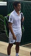 Warming up at Wimbledon, June 25