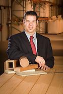 Heath Van Eaton of Heartland Biocomposites in Torrington, WY.