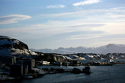 NORWAY HAMMERFEST 23MAR07 - General view of Polarbase quay in Rypefjorden near Hammerfest, the world's most northerly town...jre/Photo by Jiri Rezac..© Jiri Rezac 2007..Contact: +44 (0) 7050 110 417.Mobile:  +44 (0) 7801 337 683.Office:  +44 (0) 20 8968 9635..Email:   jiri@jirirezac.com.Web:    www.jirirezac.com..© All images Jiri Rezac 2007 - All rights reserved.