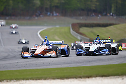 April 23, 2018 - Birmingham, Alabama, United States of America - SCOTT DIXON (9) of New Zealand battles for position through the turns during the Honda Grand Prix of Alabama at Barber Motorsports Park in Birmingham, Alabama. (Credit Image: © Justin R. Noe Asp Inc/ASP via ZUMA Wire)