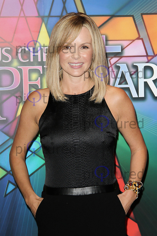 LONDON - SEPTEMBER 21: Amanda Holden attended the Launch Night of 'Jesus Christ Superstar' at the O2 Arena, Greenwich, London, UK. September 21, 2012. (Photo by Richard Goldschmidt)
