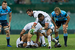 March 23, 2019 - Sydney, NSW, U.S. - SYDNEY, NSW - MARCH 23: Crusaders player Bryn Hall (9) passes the ball at round 6 of Super Rugby between NSW Waratahs and Crusaders on March 23, 2019 at The Sydney Cricket Ground, NSW. (Photo by Speed Media/Icon Sportswire) (Credit Image: © Speed Media/Icon SMI via ZUMA Press)
