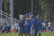 Coach Johnny Hill at Oxford High football practice in Oxford, Miss. on Wednesday, June 13, 2012.
