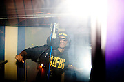 Atlanta rapper Future records tracks in the studio at 11th Street Studios in Atlanta, Georgia August 3, 2011.