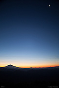Dark Blue Dawn. Mount Saint Helens National Volcanic Monument, Washington - 10/10/12. As far as I could tell there wasn't another human soul around me for at least a 20 mile radius. I spent the night on the more remote Northeast side of Mt. St. Helens National Volcanic Monument and the solitude and darkness during the long night was deep and absolute. It made the arrival of this Dark Blue Dawn, all the more welcome.