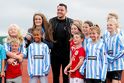Bristol CIty's new signing Lee Tomlin spends time meeting supporters as he attends his first Bristol City Women's match - Mandatory byline: Rogan Thomson/JMP - 09/07/2016 - FOOTBALL - Stoke Gifford Stadium - Bristol, England - Bristol City Women v Milwall Lionesses - FA Women's Super League 2.