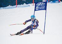 Piche Invitational giant slalom at Gunstock.  U12 ladies 1st run.  ©2014 Karen Bobotas Photographer