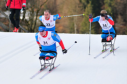 ILALUTDINOV Ramil, RUS, MURYGIN Grigory, ZARIPOV Irek at the 2014 IPC Nordic Skiing World Cup Finals - Sprint