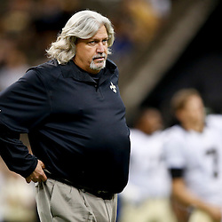 Sep 22, 2013; New Orleans, LA, USA; New Orleans Saints defensive coordinator Rob Ryan prior to kickoff of a game against the Arizona Cardinals at Mercedes-Benz Superdome. Mandatory Credit: Derick E. Hingle-USA TODAY Sports