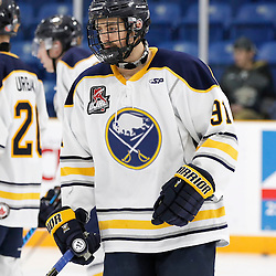 TRENTON, ON - NOV 10:  Nick Alfieri #91 of the Buffalo Jr. Sabres during the OJHL regular season game between the  Buffalo Jr Sabres and Trenton Golden Hawks on November 10, 2016 in Trenton, Ontario. (Photo by Amy Deroche/OJHL Images)