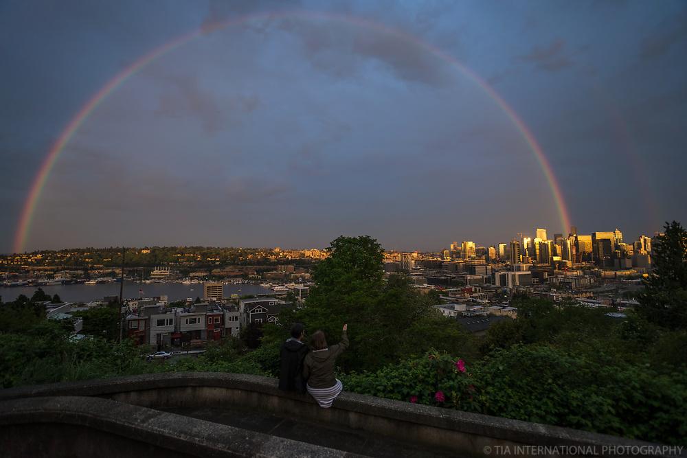 Couple under the Rainbow, Seattle