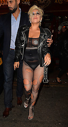Singer Lady Gaga enjoys a night out at Ronnie Scott's jazz club in London, UK. 09/06/2015<br />BYLINE MUST READ : GOTCHAIMAGES.COM<br /><br />Copyright by © Gotcha Images Ltd. All rights reserved.<br />Usage of this image is conditional upon the acceptance <br />of Gotcha Images Ltd, terms and conditions available at<br />www.gotchaimages.com