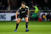 Wimbledon defender Will Nightingale (5) in action  during the The FA Cup 3rd round match between Fleetwood Town and AFC Wimbledon at the Highbury Stadium, Fleetwood, England on 5 January 2019.