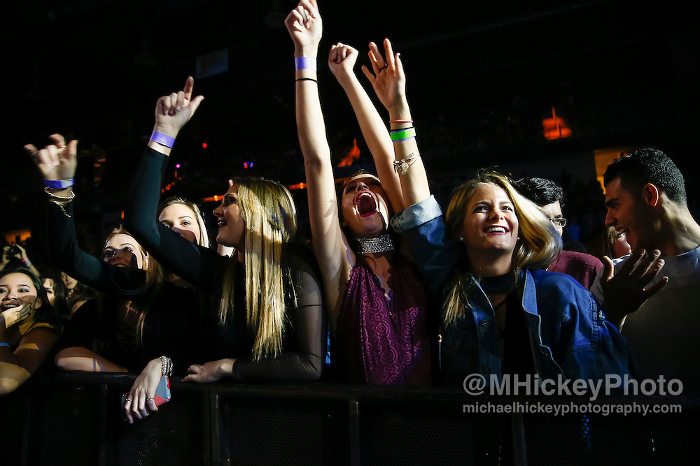 INDIANAPOLIS, IN - DECEMBER 04: Fans are seen during 2016 Santa Slam Concert at Indiana Farmers Coliseum on December 4, 2016 in Indianapolis, Indiana. (Photo by Michael Hickey/Getty Images)