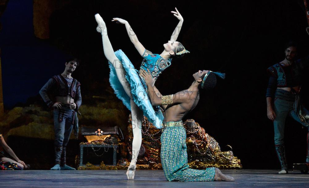16.10.2013 English National Ballet Company performing Le Corsaire at Milton Keynes Threare UK <br /> Act 1 Medora: Alina Cojocaru