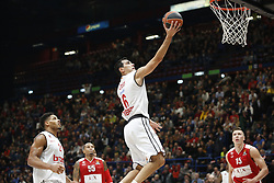 November 17, 2017 - Milan, Milan, Italy - Nikolaos Zisis (#6 Brose Bamberg) shoots a layup during a game of Turkish Airlines EuroLeague basketball between  AX Armani Exchange Milan vs Brose Bamberg at Mediolanum Forum, on November 17, 2017 in Milan, Italy. (Credit Image: © Roberto Finizio/NurPhoto via ZUMA Press)
