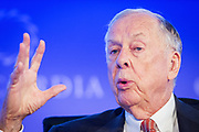 Businessman Thomas Boone Pickens Jr. (May 22, 1928 – September 11, 2019) at a Concordia conference in New York September 29th 2014. Pickens passed away in Dallas, Texas on September 11th 2019, aged 91.