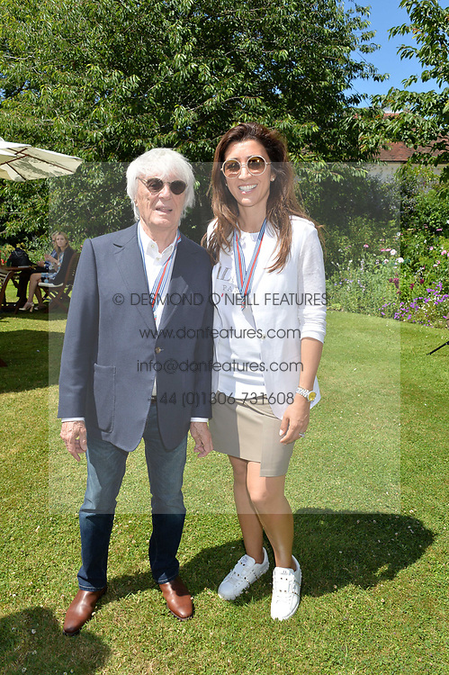 Bernie Eccleston and his wife  at the Cartier Style et Luxe at the Goodwood Festival of Speed, Goodwood, West Sussex, England. 2 July 2017.<br /> Photo by Dominic O'Neill/SilverHub 0203 174 1069 sales@silverhubmedia.com
