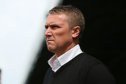 Bury manager Lee Clark looking onto the pitch during the EFL Sky Bet League 1 match between Southend United and Bury at Roots Hall, Southend, England on 30 April 2017. Photo by Matthew Redman.