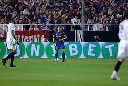 03-03-2007 VOETBAL: SEVILLA FC - BARCELONA: SEVILLA  <br /> Sevilla wint de topper met Barcelona met 2-1 / Carles Puyol Saforcada - boarding unibet.com<br /> &copy;2006-WWW.FOTOHOOGENDOORN.NL