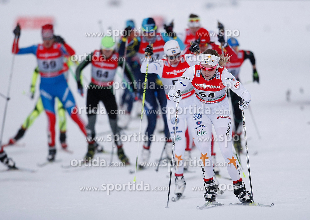03.01.2013, Nordische Arena, Toblach, ITA, FIS Langlauf Weltcup, Tour de Ski 2013, Damen, 15km Verfolgung, im Bild Jennie Oeberg // during Ladies 15 km Free Pursuit of the Tour de Ski 2013 of the FIS cross country world cup at nordic arena in Dobiacco, Italy on 2013/01/03. EXPA Pictures © 2013, PhotoCredit: EXPA/ Newspix/ Irek Dorozanski..***** ATTENTION - for AUT, SLO, CRO, SRB, BIH, TUR, SUI and SWE only *****