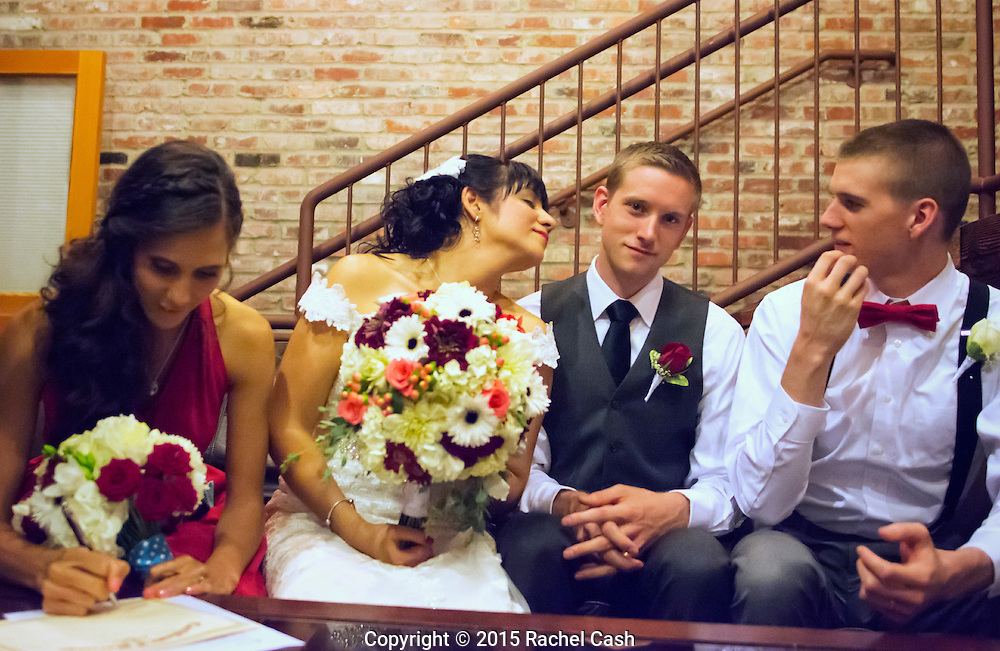 From Emily and Nick's wedding at the Historic 1625 Building in Tacoma, Washington.<br />
