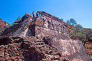 MEXICO, COLONIAL CITIES Tepoztlan: Aztec pyramid of Tepozteco