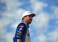 Nov. 12 2011; Avondale, AZ, USA; NASCAR Nationwide Series driver Elliott Sadler (2) reacts during qualifying for the Wypall 200 at Phoenix International Raceway. Mandatory Credit: Jennifer Stewart-US PRESSWIRE