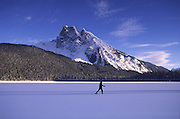 Cross country skiing, Lake Emereald, British Columbia, Canada<br />