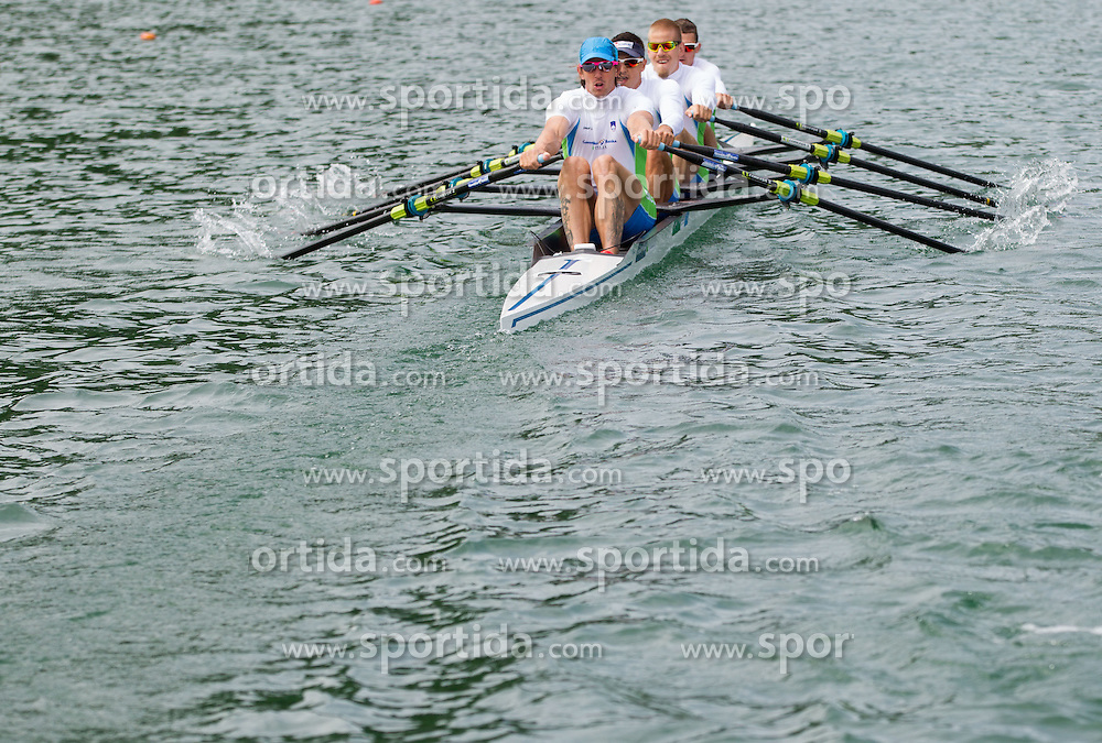Luka Spik, Gasper Fistravec, Jan Spik and Jure Grace during training session of Slovenian National Rowing team for European Rowing Championships 2013 in Seville, Spain, on May 22, 2013 in Bled Lake, Slovenia. (Photo By Vid Ponikvar / Sportida)