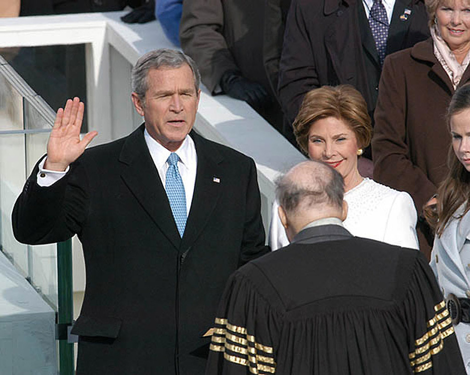 President George W. Bush taking the Oath of Office, January 20, 2005.