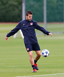 14.09.2010, Trainingsplatz Arsenal, London, ENG, PL, Arsenal Training, im Bild Arsenal's Cesc Fabregas .at London Colney Training Centre, London. EXPA Pictures © 2010, PhotoCredit: EXPA/ IPS/ Kieran Galvin +++++ ATTENTION - OUT OF ENGLAND/UK +++++ / SPORTIDA PHOTO AGENCY