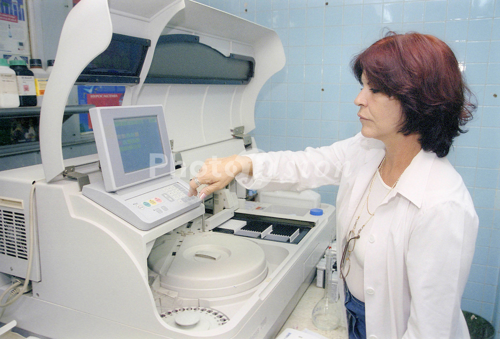 Haematology laboratory at Hermanos Ameijeiras Hospital; Havana Cuba,