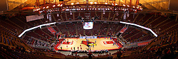 17 February 2016:  Stitched Panoramic of Redbird Arena and Doug Collins Court before the Illinois State Redbirds v Indiana State Sycamores at Redbird Arena in Normal Illinois (Photo by Alan Look)<br /> <br /> This images should be treated as an illustration for editorial purposes.
